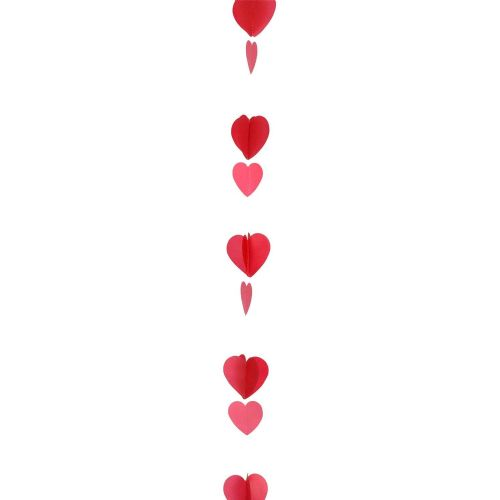 Red & White Heart Balloon Tails 1.2m